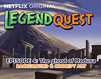 Legend Quest Episode 4: background and Concept art.