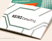 Keiro Consulting - Raised Spot UV, Suede Business Cards