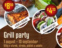 Hotel Zlatý Býk - Grill party leták