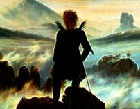 """Der wanderer über dem nebelmeer"" by Magnaxeon"