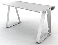 Extruded aluminium desk