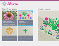 Blooms - Windows 8, Visual Design Contest, 2nd prize!