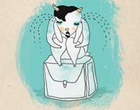 Depressive Goat & His Suitcase