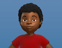 Afro Kid - Character Modeling