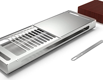 Compact grill with cutting surface