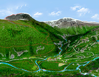3D - map of Storjord