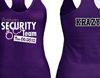 Security Themed Bachelorette Party Tshirt Design