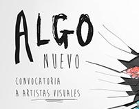 Flyer Algo Nuevo // Muestra de Arte // Taller Regazzoni