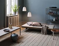 Twin Lamps interior scene
