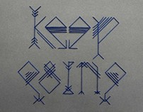 keep going typeface