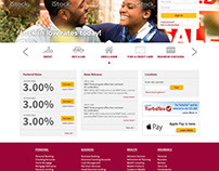 Revamp of BB&T's homepage