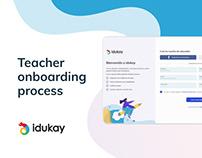 Idukay's onboarding