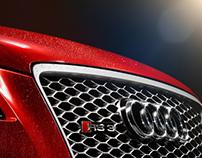 Audi RS3 in rain