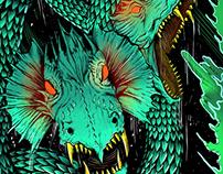 Monsters / Skateboard design X Origin Skateboards
