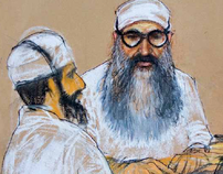 Guantanamo Bay court art. All images ©Janet Hamlin