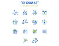 Pet Icons Multicolors
