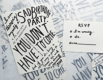 Sad Birthday Invites