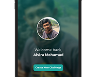 Welcome scree, App Design