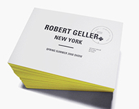 ROBERT GELLER, SS08 Show invitation & Show Set