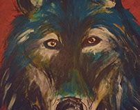 Canvas Art - Some acrylic painttings about wild animals