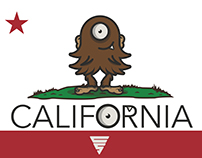Lil Big Foot California Flag