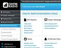 Centre Radio Admin Area