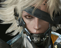 MGS: Raiden Digital Painting