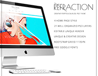 Refraction_portfolio PSD theme