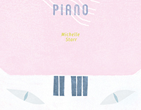 Cat on the Piano-Book Cover&Bookmark