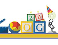 ILLUSTRATION - Doodle Google - Pixar