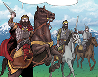 The beginning of the Second Bulgarian Empire (comics)