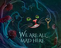 Alice in Wonderland themed invitations.