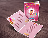 Baby Rice Ceremony (Annaprashan) Card design #2