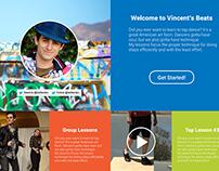 Vincent's Beats, web design, typography & fun