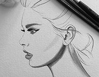 Black & White Fashion Illustrations