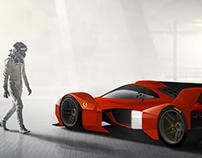 Ferrari F88 CS concept render