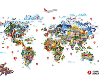 Turkish Airlines Map