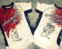 kumite team karate t-shirt design