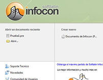 User Interface de Software Gratuito Softlatin Infocon