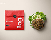 Sandwich Snack Paper Bag Mockup Set