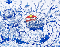 RED BULL doodle art CHILE