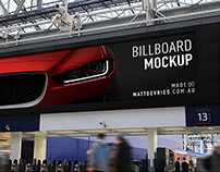 Smart Advertising Billboard | PSD TEMPLATE MOCKUP