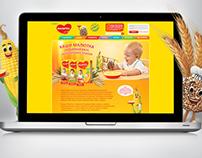 Промо страницы для сайта Малютка