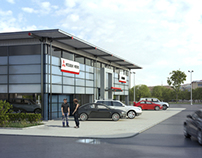3D presentation of Mitsubishi dealership