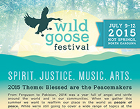 Wild Goose fest 2015 advertising +digital collateral