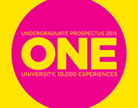 Uni of Gloucestershire Prospectus and Billboard