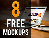 8 FREE Laptop Mock-up PSD's