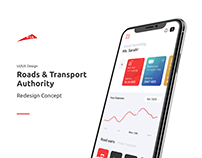 Dubai Roads & Transport UI/UX Mobile App Concept