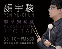 Yu-Chun Yen Percussion Recital Poster & Folding