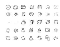 Conceptualization Sketches for Icons.